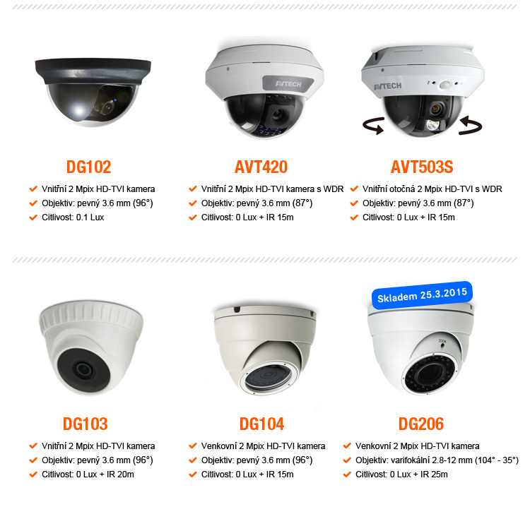 AVTECH HD-CCTV - nabízíme plný sortiment
