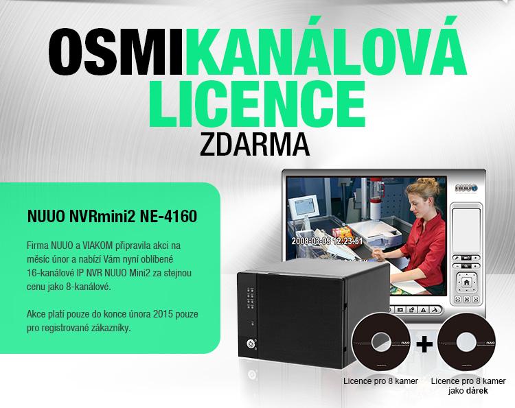 8-kanálová licence NUUO Mini2 zdarma a nové PoE switche v nabídce VIAKOM