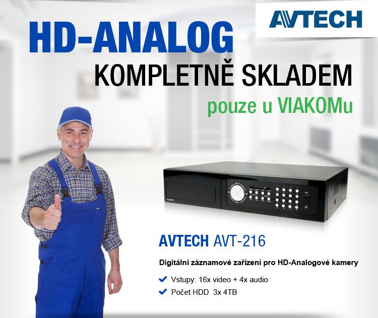AVTECH - HD-Analog kompletně skladem pouze u VIAKOMu