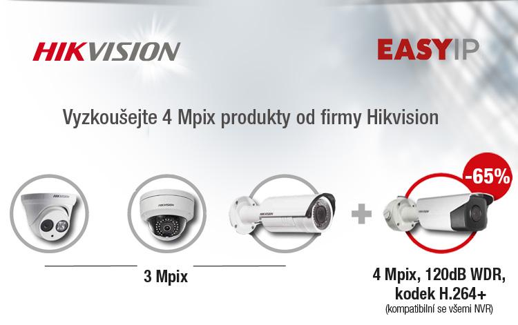 EASY IP HIKVISION vyzkoušejte si 4-megapixel kamery se slevou
