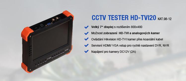 Kombinované CCTV testery pro IP, HD-TVI a analogové kamery - nové modely v nabídce