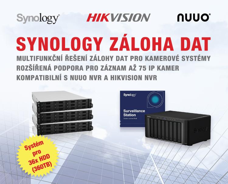 SYNOLOGY - multifunkční řešení zálohy dat pro kamerové systémy