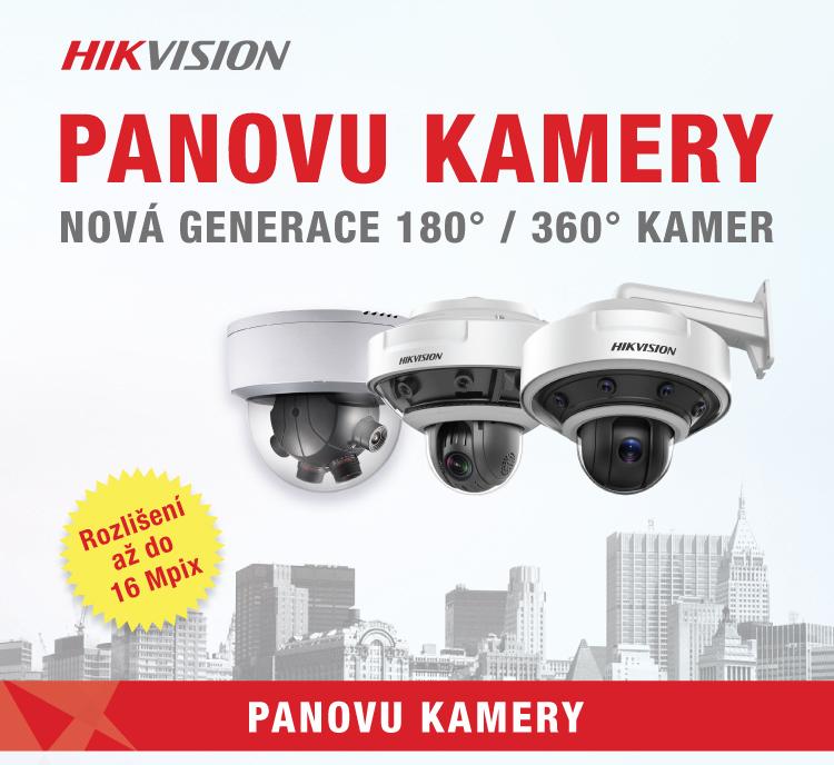 PANOVU KAMERY - nová generace 180° / 360° kamer