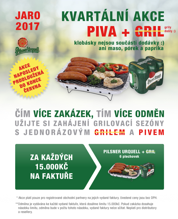 AKCE JARO - Plzeňský Urquell a grill