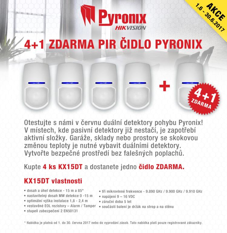 PYRONIX - 4 + 1 ZDARMA PIR čidlo