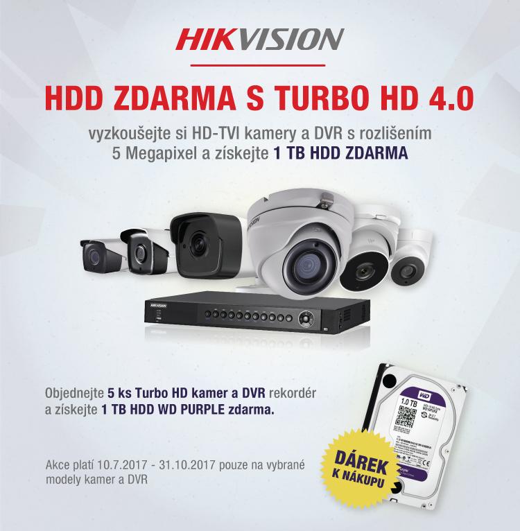 HIKVISION - HDD k sérii 5 Mpix ZDARMA