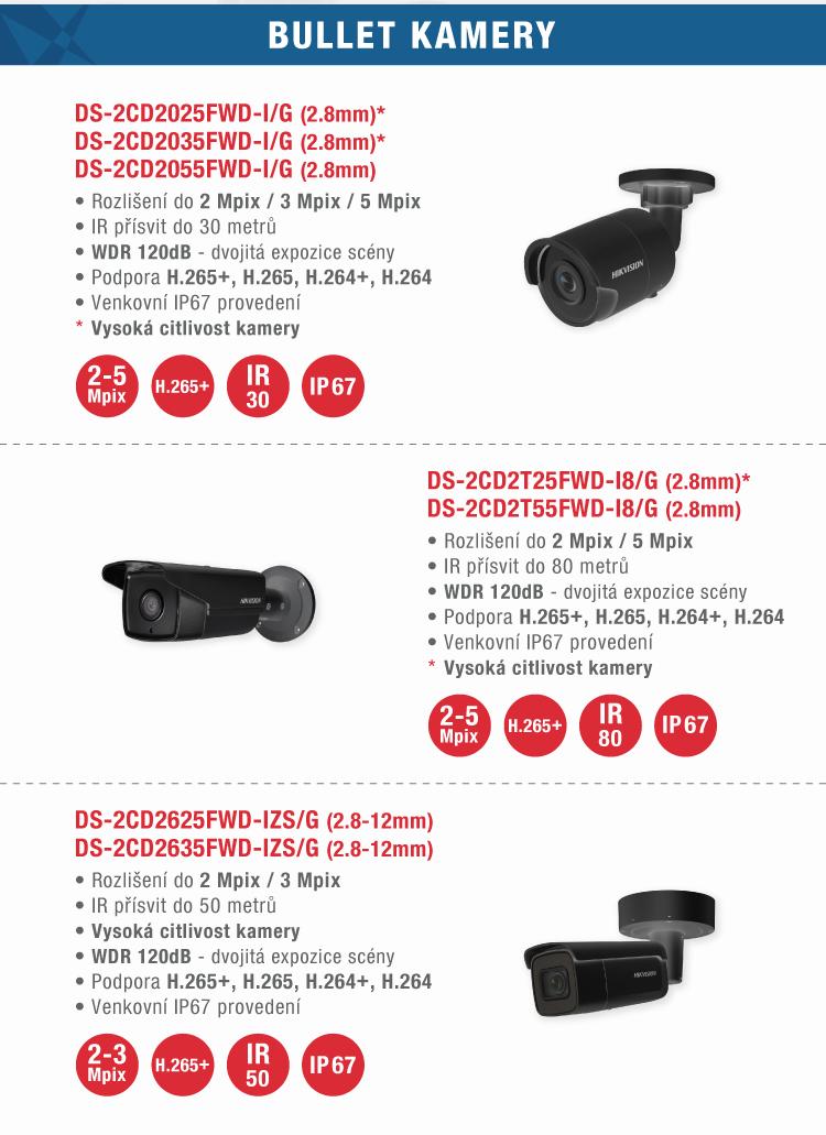HIKVISION - Černé IP kamery H.265+ SKLADEM