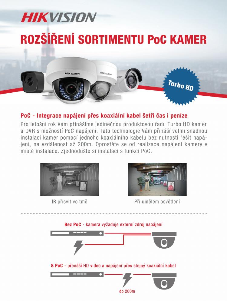 HIKVISION - Nové PoC kamery ze série Turbo HD 4.0 SKLADEM