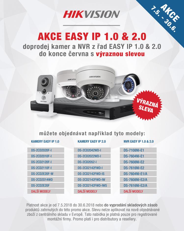 HIKVISION AKCE - doprodej kamer a NVR z řady EASY IP 1.0 & 2.0