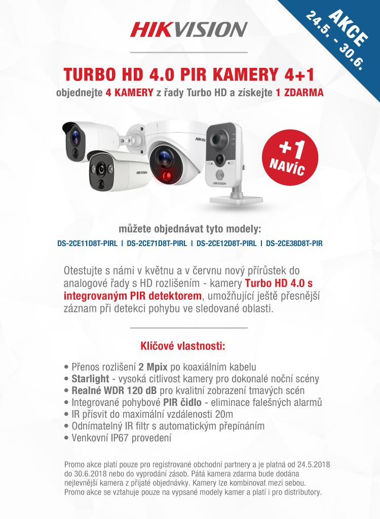 HIKVISION AKCE - 4+1 ZDARMA Turbo HD 4.0 PIR kamery